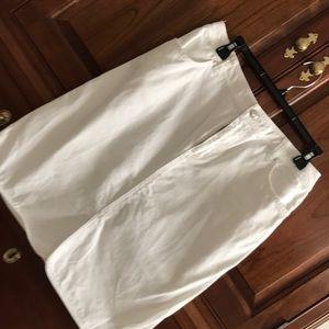 Lands End white denim skirt, size 10
